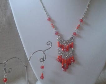 """Orange and red wedding"" set"