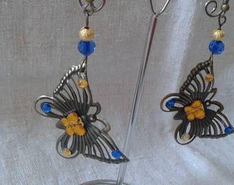 """""""beautiful Butterfly bronze"""" earrings"""