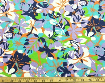 French Terry Fabric with Flowery Print