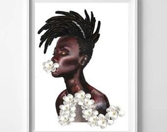 Meditation in African Violets