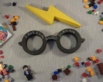 Glasses//Harry Potter//Kids//Nursery//Wooden//Free Standing//Personalised//Room Decor//Door Sign//Baby Shower//God Child//Gift