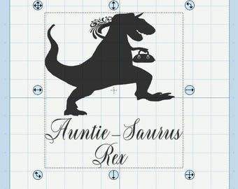Auntie and Uncle-saurus rex svg