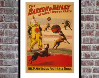 VINTAGE POSTER Barnum and Bailey Circus Poster