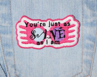 Luna Lovegood, You're just as SANE as I am, Quibbler, Glasses, Harry Potter inspired Iron-on Embroidered Patch