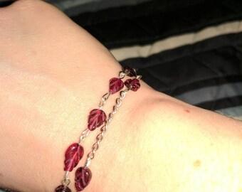 Purple leaf bracelet