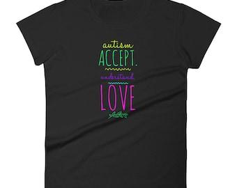 Autism Acceptance, Autism Awareness Women's short sleeve t-shirt