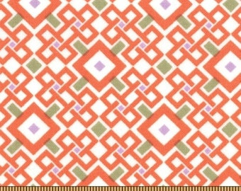 GOOD FORTUNE by MODA FABRICS orange patchwork fabric