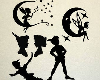 Peter Pan SVG Clipart Cut Files Silhouette Cameo Svg for Cricut and Vinyl File cutting Digital cuts file DXF Png Pdf Eps vector clip art