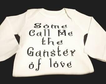 Preemie, Baby, Newborn, Unisex, Toddler, Boy, Girl, Music, Musical, Musical Notes, Gangster, Gangster of Love, Onesie or Tee