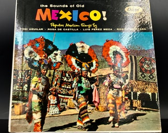 RANCHERA VINYL: The Sounds Of Old Mexico - Vintage Mexican LP Record - Great Gift!