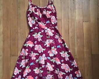SUMMER SALE vintage 1970s Hawaiian dress // 70s does 50s Hawaiian sun dress