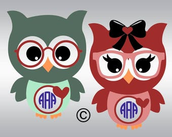 Owl svg, Owl cute svg, Owl with bow svg, Valentine's day svg, Heart svg, SVG Files, Cricut, Cameo, Cut file, Clipart, Svg, DXF, Png, Eps