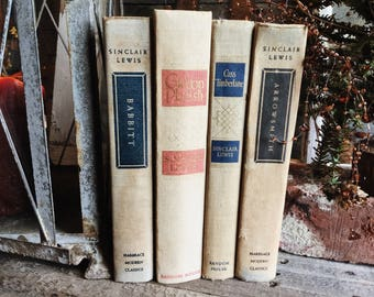 Old Books - Mid-Century Sinclair Lewis Novels FREE SHIPPING