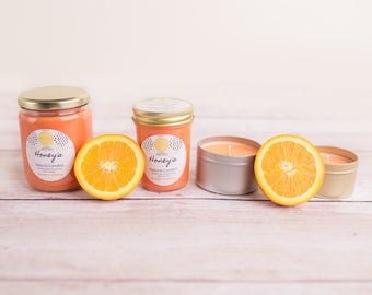 Orange Cranberry Scented Soy Candle