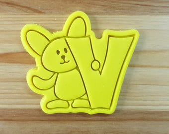 Bunny V Cookie Cutter and Stamp