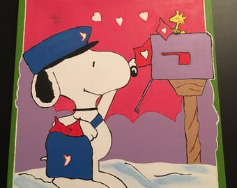 Snoopy delivering mail