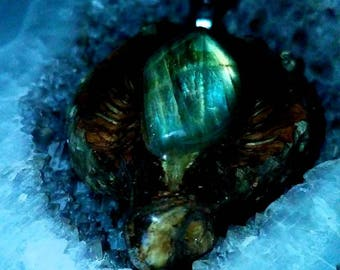 Labradorite with Glowing Back