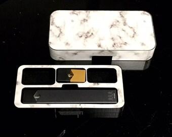 JUUL Vape travel case White Marble S200 design