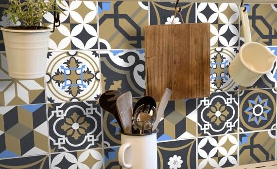 Kachel aufkleber  Fliesenaufkleber Kachelaufkleber Fliesenfolie Marokkanisch