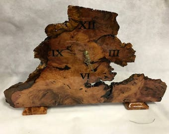 Sequoia Redwood Mantel Clock