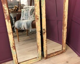 Vintage Mirror, Antique Mirror, Door Mirrors, French mirror, French Vintage Shutter Mirrors c1930s
