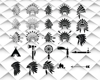 Indian Headdress svg,png,eps,jpg|Indian Headdress clipart format for Design/Print/Silhouette Cameo/Cricut and Many More