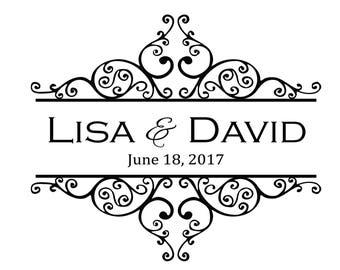 Lovely Flourish Wedding Monogram/Logo/High Quality Digital/Custom/Elegant/DIY/Romantic