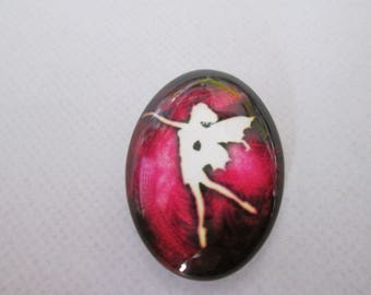 an oval cabochon glass 25 x 18 mm fairy