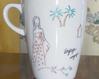 """Deco mug """"exotic"""" journey"""""""
