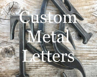 """7"""", 8"""", 9"""", 10"""" - Any Size - Steel Metal Letters and Numbers - Personalize - Any Font"""