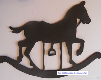 Toy horse, wooden wall decoration