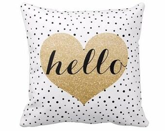 Hello Pillow Cover