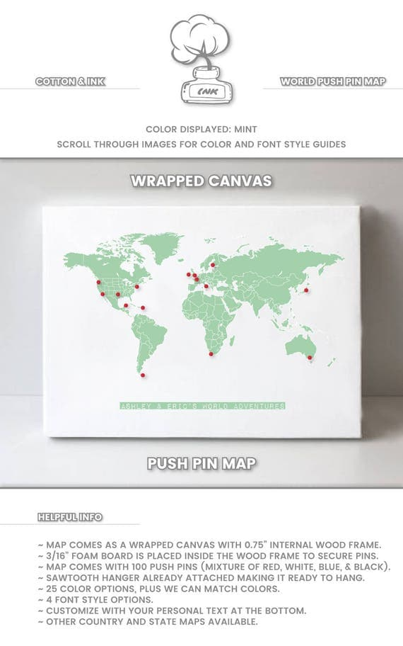 Small world map pin world map vintage world map gift world map like this item gumiabroncs Choice Image