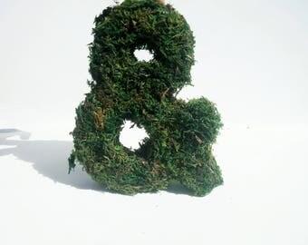 Large moss sign, moss letter, moss initial, grass letter, woodland wedding, Moss decorations, Moss wall art , wedding grass sign