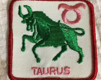 TAURUS Astrology Horoscope Detailed PATCH Vintage Mint Exc Item ZODIAC