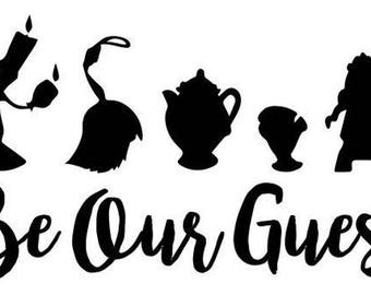 Be Our Guest .svg file for Cricut and Silhouette