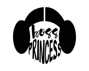 Boss Princess .svg file for Cricut and Silhouette