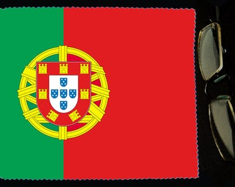 Cloth wipes Portugal flag sunglasses
