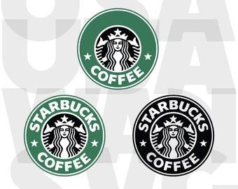 Starbucks SVG Files, Starbucks  SVG Cut File, Starbucks  SVG Monogram File for Cricut Die Cut Machine, Starbucks Svg Files Instant Download
