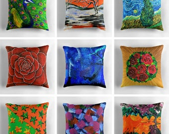 decorative throw pillows for couch green red orange blue pillow covers cushion cover