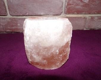 Medium sized hiymalian salt candle holder.