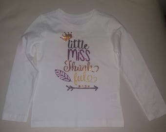 Little Miss Thankful Girl Tee