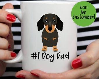No 1 Dog Dad Dachshund Mug | Cute Mug  | Dog Mom | Dog Mum | Dog Mug | Wiener Mug | I Love My Dachshund Mug | Dachshund Mug | Dachshund Gift