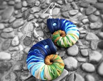 Ammonium earrings with Swarovski