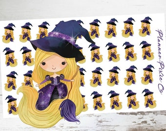 Princess Planner Stickers // Halloween // Witch // 002