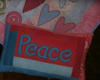 PEACE WALL QUILT and pillow