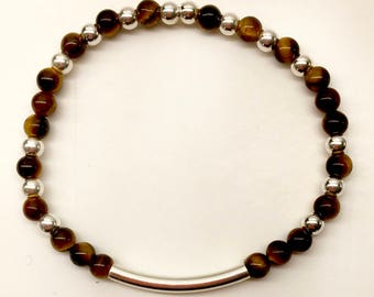 Integrity Band: Tigers Eye and Sterling Silver.