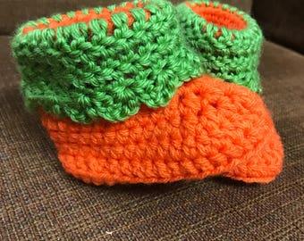 Crochet Pumpkin Baby Booties