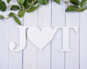 Wooden initials/ custom letters/ custom wood letters/ wooden letter signs/ wedding initials/ wedding letters/ home decor letters