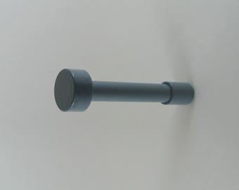 Blue Wall Hook - Gray Wall Hook -Brass Wall Hook -Modern Wall Hook - Handmade Hardware